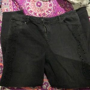 ASOS eyelet skinny jeans size 14
